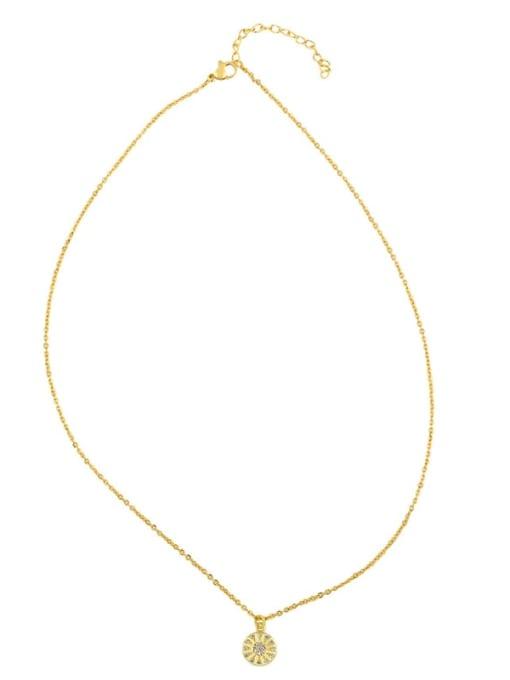 CC Copper Cubic Zirconia Geometric Minimalist Necklace 3