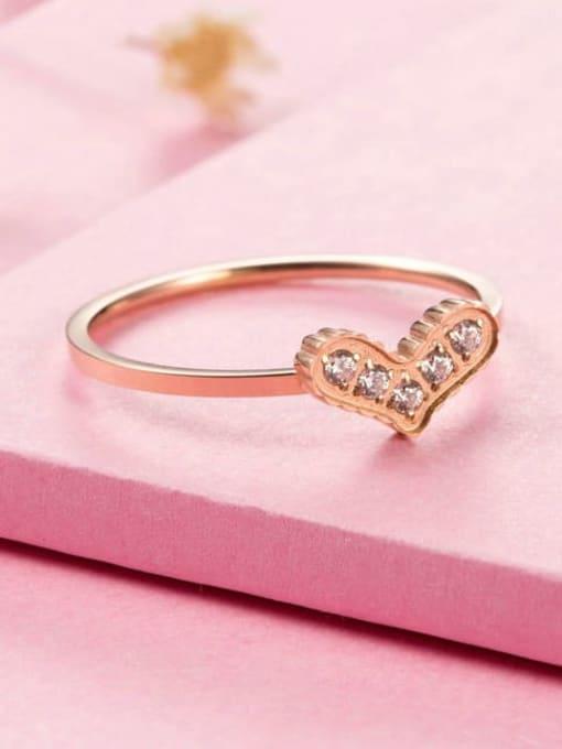 MIYA Titanium Steel Cubic Zirconia Heart Minimalist Band Ring 1