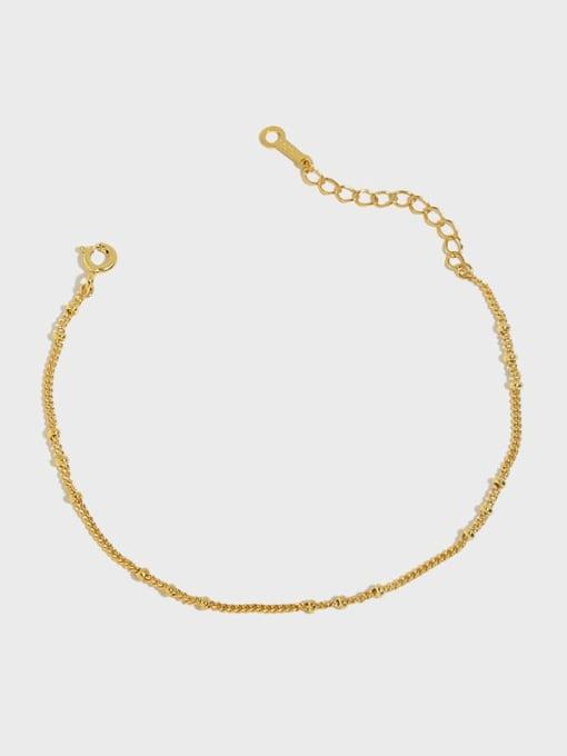 DAKA 925 Sterling Silver Irregular Minimalist Link Bracelet 0