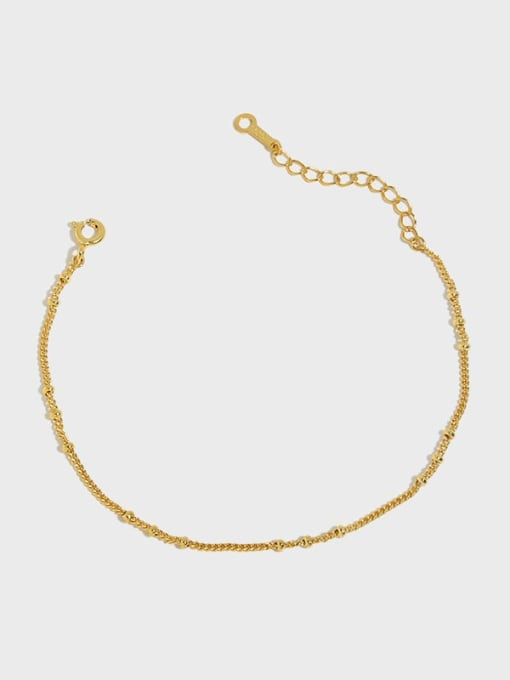DAKA 925 Sterling Silver Irregular Minimalist Link Bracelet
