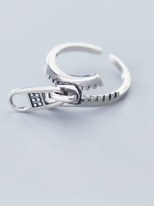 Rosh 925 Sterling Silver Irregular Vintage Free Size Ring 1