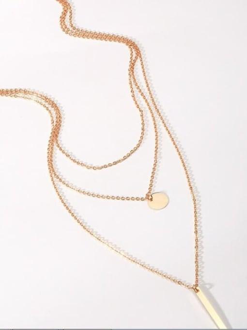 A TEEM Titanium Steel Heart Vintage Multi Strand Necklace