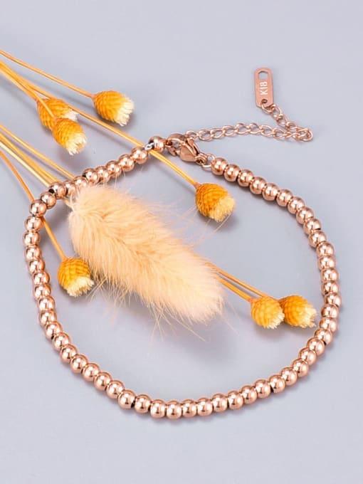 A TEEM Titanium Bead Round Minimalist Beaded Bracelet 1