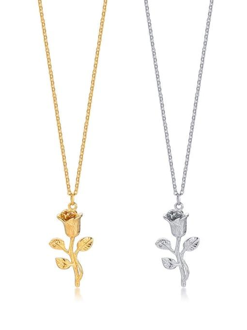 LI MUMU Titanium Steel Rosary Minimalist Necklace