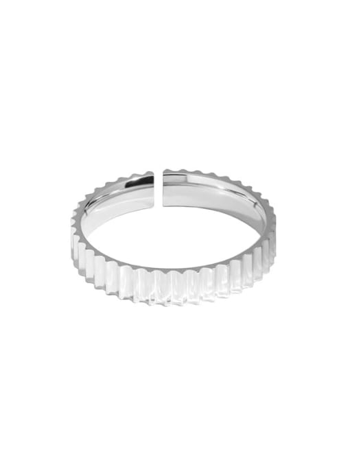 4mm Silver 925 Sterling Silver Geometric Minimalist Band Ring