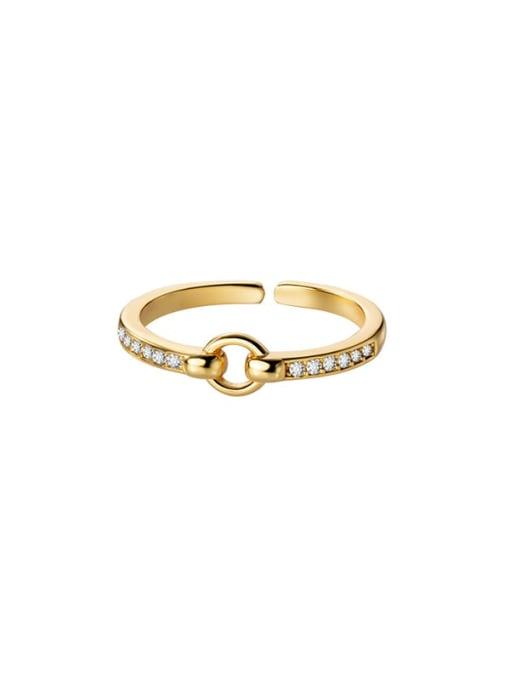 Rosh 925 Sterling Silver Rhinestone Geometric Minimalist Band Ring 4