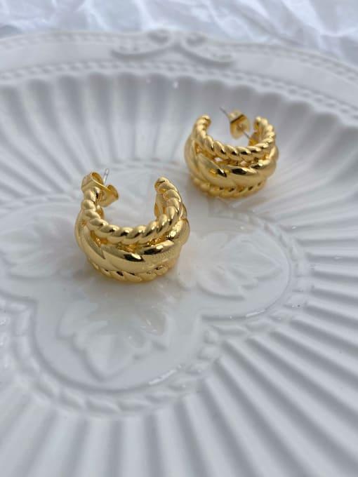 LI MUMU Brass Geometric Vintage Drop Earring 1