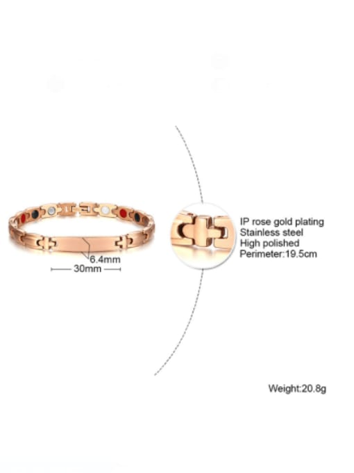 CONG Stainless steel Geometric Minimalist Bracelet 3