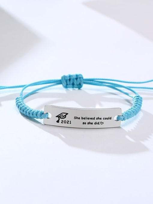 CONG Stainless steel Geometric Minimalist Woven Bracelet 1