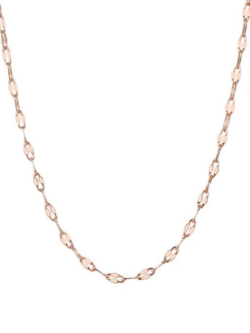 CONG Titanium Steel Irregular Minimalist Necklace 4