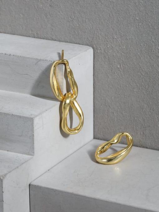 DAKA 925 Sterling Silver Geometric Minimalist Drop Earring 1
