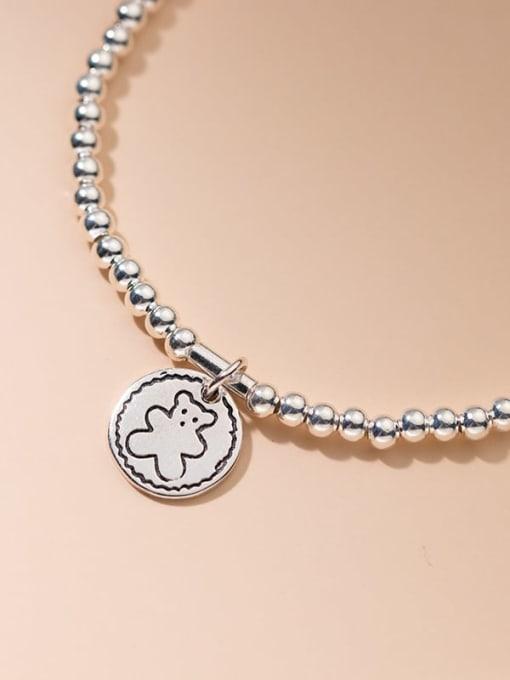 Rosh 925 Sterling Silver Bead Geometric Vintage Beaded Bracelet 2