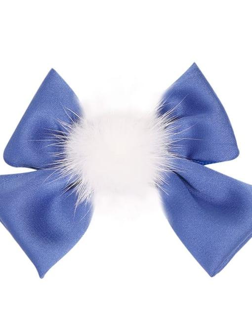 1 deep sea blue Alloy Fabric Cute Bowknot  Multi Color Hair Barrette