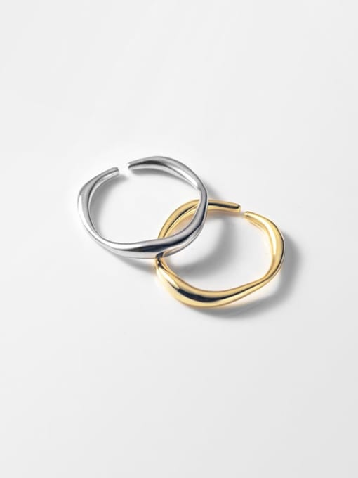 Rosh 925 Sterling Silver Round Minimalist Band Ring 3