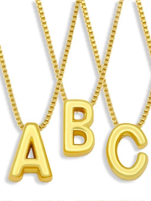 CC Brass Smooth Minimalist Letter Pendant