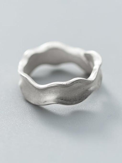 Rosh 925 Sterling Silver Smooth Irregular Vintage Free Size Ring 3