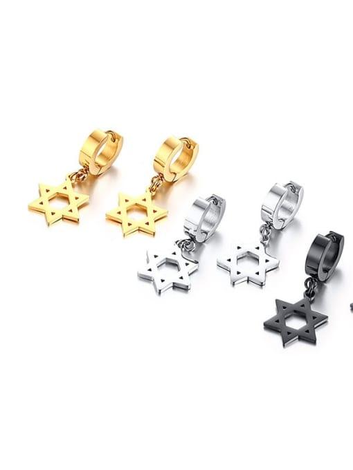 CONG Titanium Steel Geometric Minimalist Huggie Earring 2