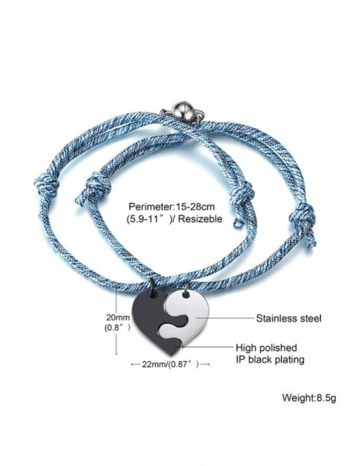 Section 105 Titanium Steel Heart Vintage Bracelet