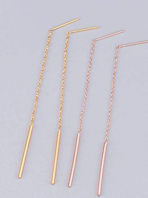 A TEEM Titanium Tassel Minimalist Threader Earring 1