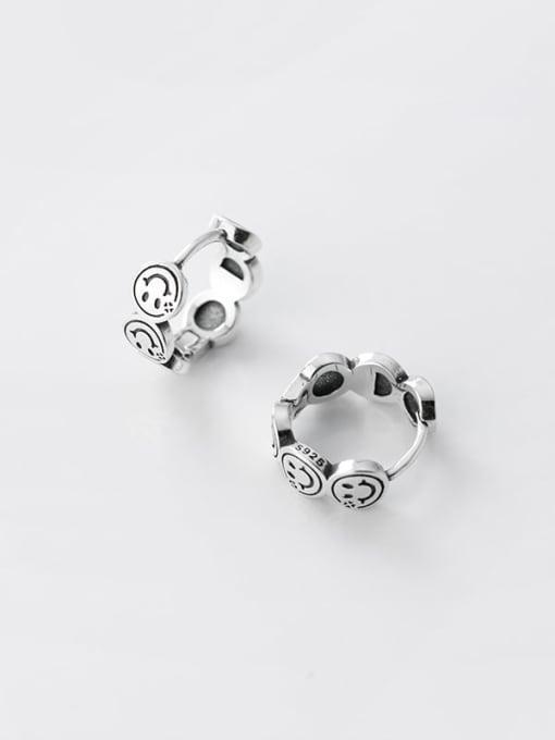 Rosh 925 Sterling Silver Smiley Vintage Stud Earring 3