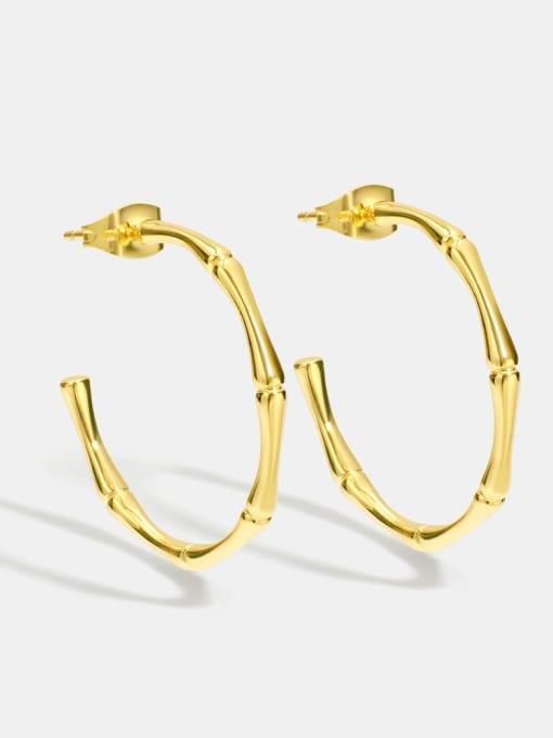 CHARME Brass Geometric Minimalist Hoop Earring 0