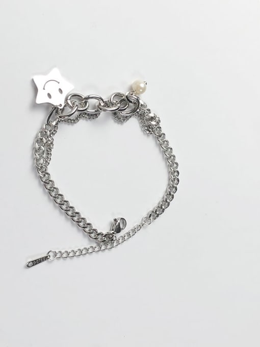 CONG Titanium Steel Geometric Minimalist Link Bracelet 3