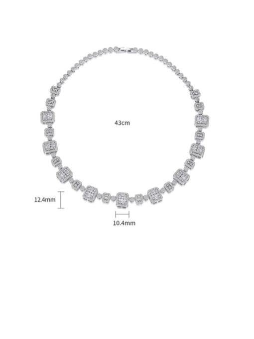 BLING SU Brass Cubic Zirconia Geometric Dainty Necklace 4