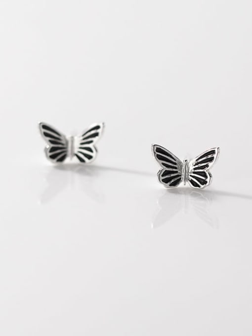 Rosh 925 Sterling Silver Butterfly Vintage Stud Earring 0