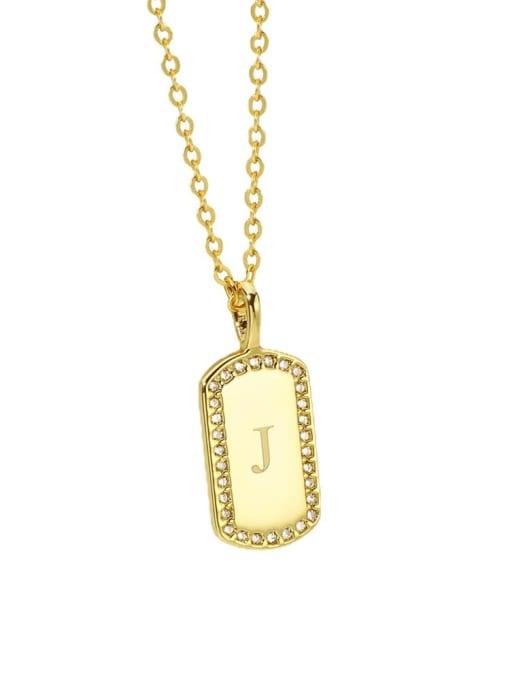 CHARME Brass Rhinestone Letter Minimalist Necklace 3