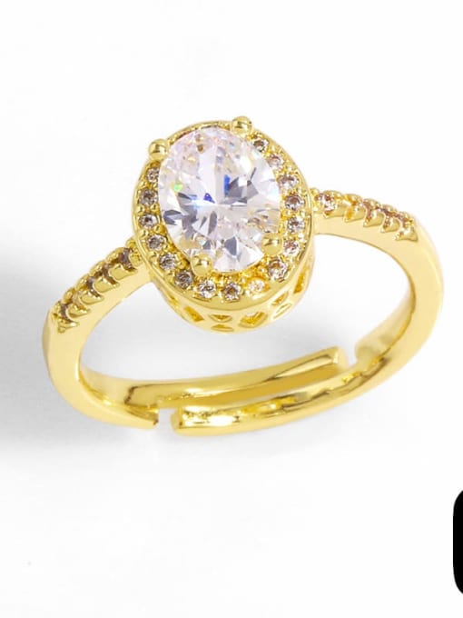 CC Brass Cubic Zirconia Bowknot Trend Band Ring 3