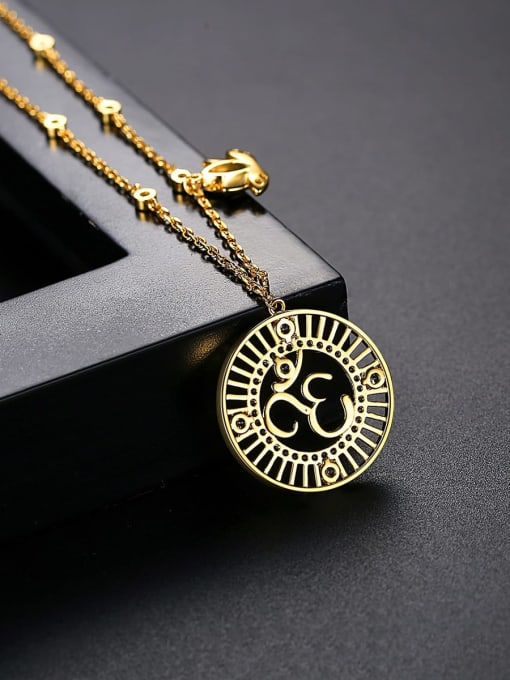 BLING SU Brass Cubic Zirconia Geometric Vintage Necklace 1