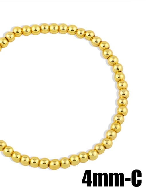 gold 4mm Brass Ball Minimalist Bead Chain