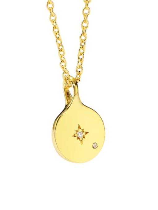 CHARME Brass Rhinestone Geometric Minimalist Cuban Necklace 2