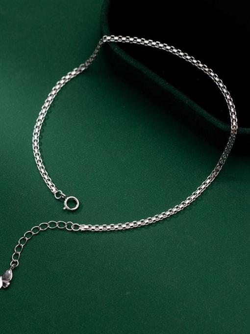 Rosh 925 Sterling Silver Hollow Irregular Minimalist Link Bracelet 1