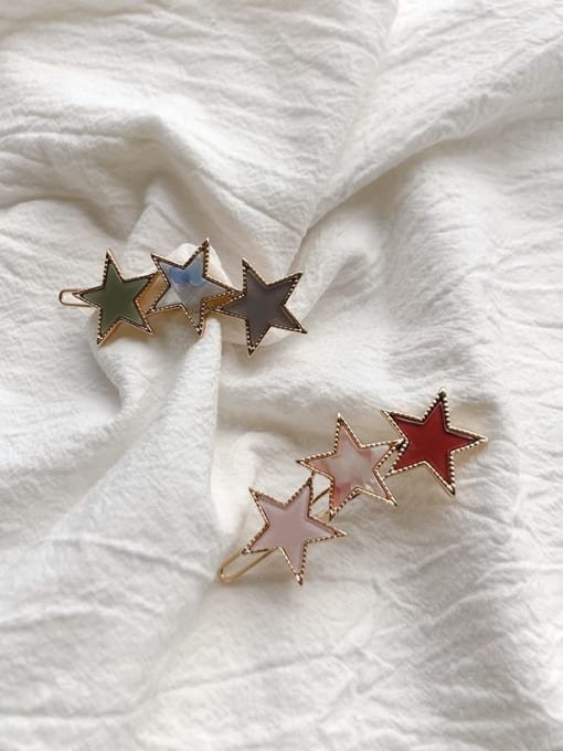Chimera Alloy Cellulose Acetate Minimalist Star  Hair Pin 2