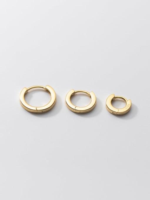 Rosh 925 Sterling Silver Round Minimalist Huggie Earring 3