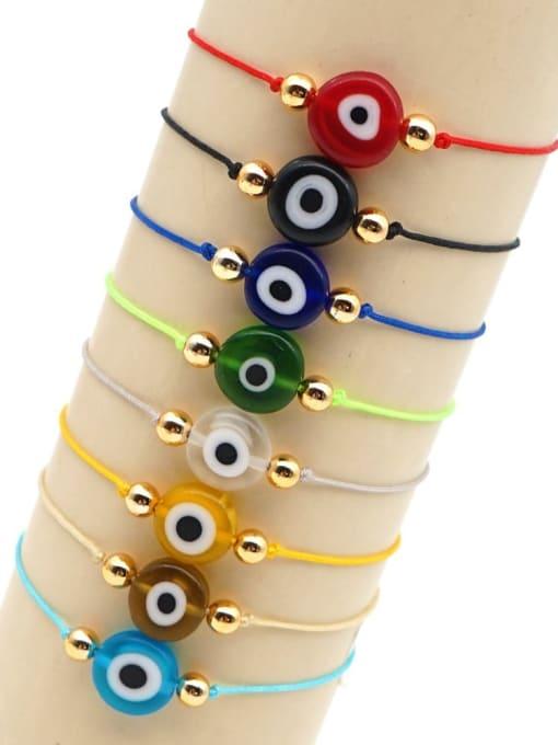 Roxi Stainless steel Bead Evil Eye Bohemia Adjustable Bracelet 1