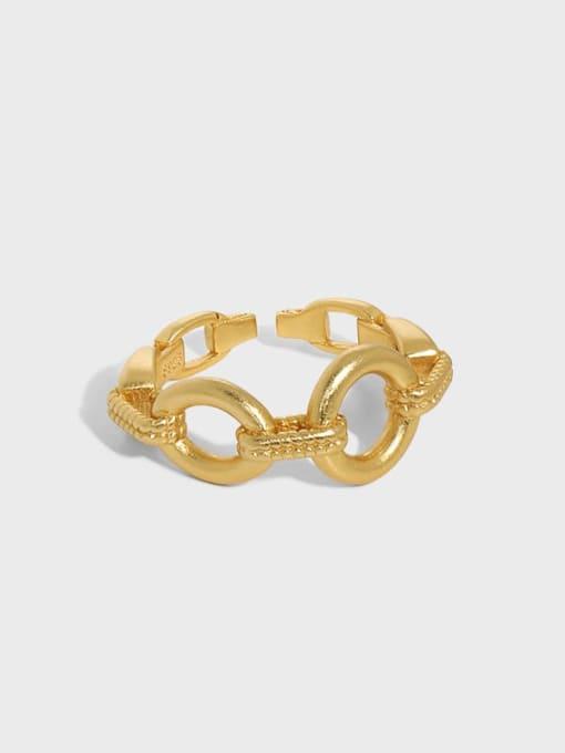 DAKA 925 Sterling Silver Hollow Geometric Vintage Band Ring 0