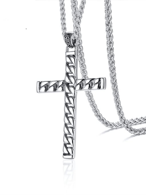 CONG Stainless steel Cross Minimalist Regligious Necklace 0