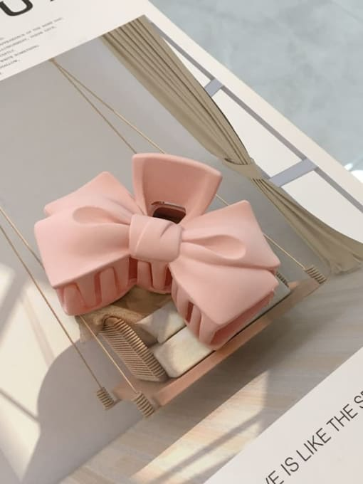 Pink Cellulose Acetate Minimalist  multicolor Bowknot Jaw Hair Claw
