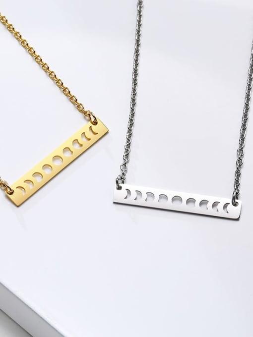 CONG Titanium Steel Smooth Geometric Minimalist Necklace 4