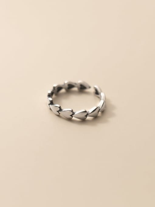 Rosh 925 Sterling Silver Flower Vintage Band Ring 3