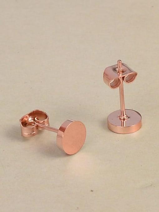 A TEEM Titanium Steel Round Minimalist Stud Earring 1