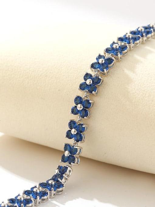 DUDU Brass Cubic Zirconia Clover Dainty Bracelet 4