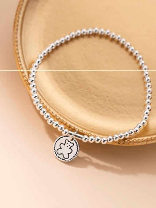Rosh 925 Sterling Silver Bead Geometric Vintage Beaded Bracelet 1