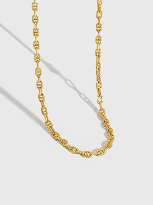 Dak Phoenix 925 Sterling Silver Hollow Geometric Minimalist Chain Necklace