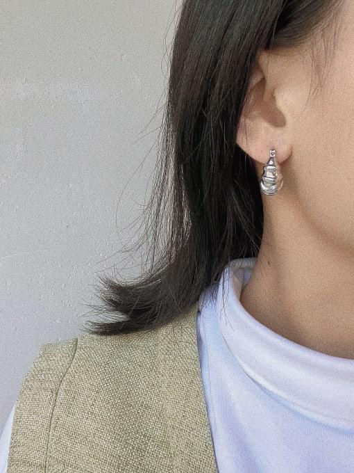 LI MUMU Brass Geometric Vintage Huggie Earring 2