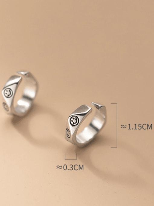 Rosh 925 Sterling Silver Geometric Vintage Huggie Earring 2
