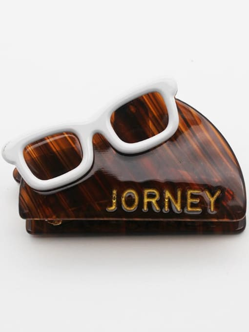 Coffee Cellulose Acetate Vintage Geometric Zinc Alloy Jaw Hair Claw