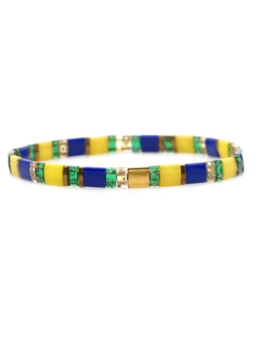 Roxi Stainless steel TILA Bead Multi Color Geometric Bohemia Handmade Weave Bracelet 3